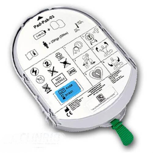 Cartucho (Bateria e Pá) para Desfibrilador - PadPak – HeartSine