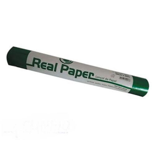 Lençol de Papel Real Paper 100% Fibras Naturais - Kinsan - Caixa com 6 UN