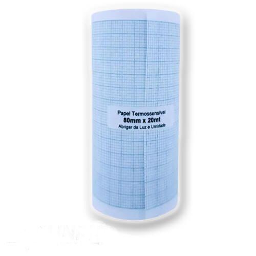 Papel ECG 80mmx20m - Caixa com 10un