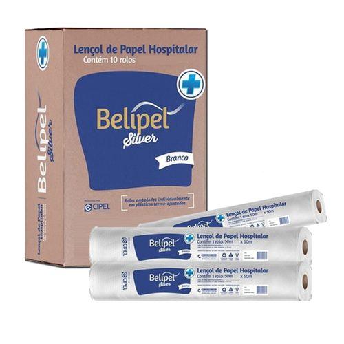 Lençol de Papel 100% Fibras Naturais - 10un - Belipel